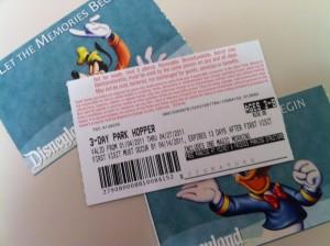 Disneyland and California Adventure tickets