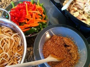 thai-inspired pasta toss