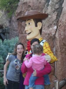 Toy Storys Woody in Disneyland